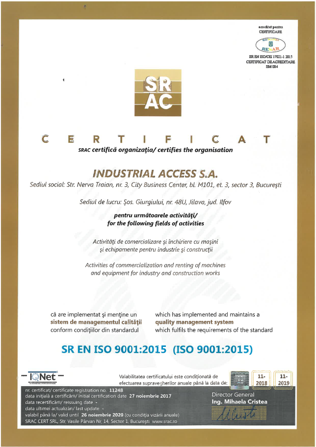 Quality & Safety Certificates